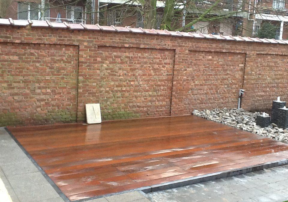 Aanleg houten terras