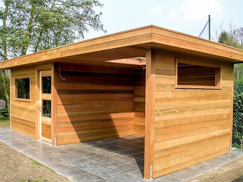 Houtproducten – houten tuinhuis